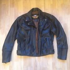 Harley Davidson Billings Distressed Brown Leather Motorcycle Motorbike Jacket M