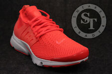 NIKE AIR PRESTO FLYKNIT ULTRA 835570-800 TOTAL CRIMSON WHITE SIZE: 9