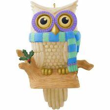 Hallmark 2014  Whoooo's Watching Owl Solar Power Magic Ornament creased box