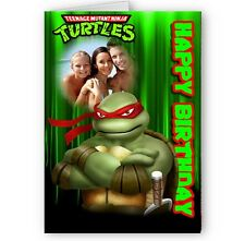 Personalised Photo TMNT Raphael A5 Happy Birthday Card with Envelope