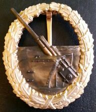 ✚5493✚ German Kriegsmarine Coastal Artillery War Badge after WW2 1957 pattern