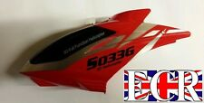 RED CANOPY HEAD BODY COVER SYMA S033  S033G RC HELICOPTER SPARES PARTS