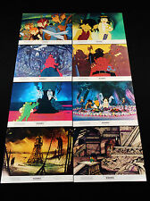 WIZARDS 1977 * RALPH BAKSHI * ANIMATION * COMPLETE LOBBY CARD SET * MINT UNUSED!