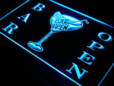 s031-b Bar Open Beer Cocktails Pub Neon Light Sign