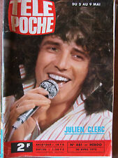 TELE POCHE N°481 (30 avril 1975) Julien Clerc  -Roman photos Georges Descrières