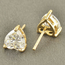 Classic 9K Solid Gold Filled CZ Heart Stud Earrings,For Womens & Girls,Z3288