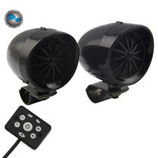 """3"""" Motorcycle Handlebar Bluetooth Speaker with Wired Remote Control (Black)"""