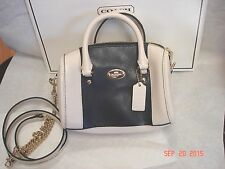 Coach Bicolor Crossgrain Baby Bennett Satchel Crossbody Chalk/Blue F35533 ~NWT