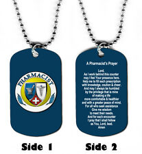 DOG TAG NECKLACE - Pharmacist's Prayer Medical pharmacy Doctor Jesus god