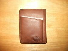 Harley-Davidson Men's Debossed Graphics Brown Leather Phone Case Wallet