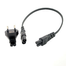 Hot EU Power adapter & Cable for IEC 320 C5 & C7, 2 in 1 EU travel power cord