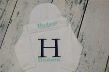 PERSONALIZED Infant Gown and Cap Set Monogram Block Initial and Name