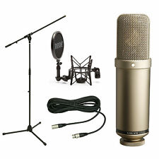 Rode NTK Large-Diaphragm Condenser Studio Mic Kit w/ Mic Stand, SM6, and 10' XLR