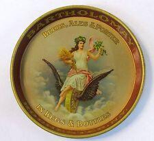 circa 1910 BARTHOLOMAY BEER Rochester NY tin litho tip tray ashtray  High Grade