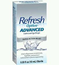 3x Refresh Optive Advanced Drop 10ml each  ( 30ml total)