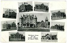 Lapeer Michigan MI - MIGHIGAN HOME FOR FEEBLE MINDED - Postcard