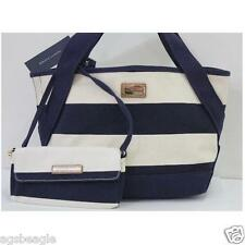 Tommy Hilfiger 6929239 423 Tote MN FL With Pouch Stripe Cream Navy #BagsFever