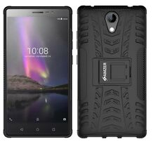 AMZER Rugged Dual Layer Hybrid Warrior Case Cover Stand For Lenovo Phab2 - Black