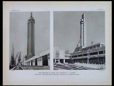 L'ARCHITECTE 1935 LE HAVRE CGT,SICLIS CAFE BARBES,HOPITAL BEAUJON,VILENNE RAINCY