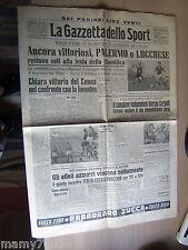 LA GAZZETTA DELLO SPORT=N°233 4/10/1948=SERIE A =ATLETICA ZATOPEK