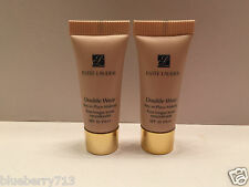 2 x  Estee Lauder Double Wear Stay-in-Place Makeup  SPF 10 / 1W2 Sand Total 10ml