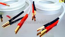 NEW 2 x 2m (A Pair) VAN DEN HUL- CLEARWATER Audio Speaker Cables Terminated