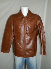 1957 FIRENZE  GIUBBINO PELLE JACKET LEATHER GIACCA UOMO MAN  TG.M   W1050