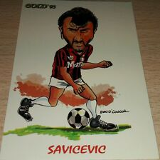 CARD GOLD 1993 MILAN SAVICEVIC CARICATURA CALCIO FOOTBALL SOCCER ALBUM