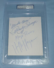 The Mega Powers Hulk Hogan Macho Man Randy Savage Signed Cut PSA/DNA COA WWE WWF