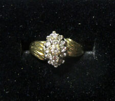 PINKY FINGER DIAMOND CLUSTER RING IN 14K YELLOW GOLD REDUCED PRICE