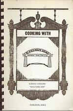 *EARLHAM IA VINTAGE *COOKING WITH SENIOR CITIZENS COOK BOOK *LOCAL ADS *RECIPES
