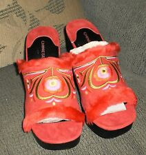 """CHINESE LAUNDRY'ADOBE RED SLIP ON CLOGS'   SIZE 9  NEW"""""""