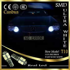 2x T10 LED 9SMD SIDELIGHTS CANBUS FREE ERROR WHITE MERCEDES C CLASS W203 00-07