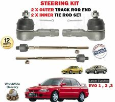 FOR MITSUBISHI EVO 1 2 3 1992-  2X OUTER & 2X INNER STEERING TRACK TIE ROD END