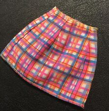 Barbie Doll Original Clothes Pink & Blue Checked Skirt (Pink Label)