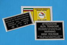 FERRARI PAINT CODE DECAL  GLASURIT ROSSO CORSA 300/6/COOLANT/VOLTAGE SET