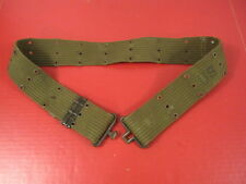 Original WWII US Army/USMC M1936 Pistol Web Belt OD Green Color - Nice #6