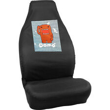 Domo Kun Universal Fit Car Seat Cover Driver Passenger Black 1 pc Japanese