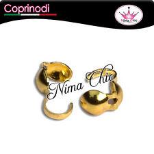 100 coprinodi colore oro per bijoux bracciali e collane, MINUTERIA BIGIOTTERIA