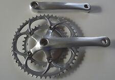 Mighty bicicleta de carreras manivela conjunto compacto 34x50 dientes CT 170 mm manivela 2x9 plata