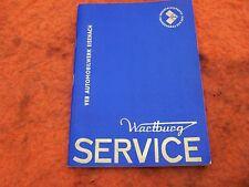 DDR Libretto Wartburg Servizio