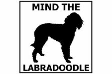 Mind the Labradoodle - Gate/Door Ceramic Tile Sign