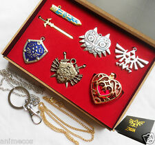 The Legend of Zelda Necklace key chain Necklace 6pcs Set anime Cosplay
