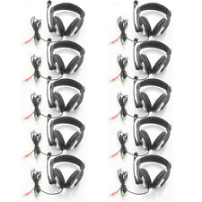 Lot 10PCS 3.5mm Gaming Headset Computer Headphone with Mic for PC Laptop US Ship