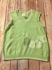 Strasburg Mint Green Boys Caterpillar Sweater Vest 4Y - 5Y 4T 5T
