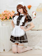 HOT!! Japan Cosplay Costume Lolita Ruffle Apron Maid Outfits Party sexy Dress