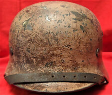 VINTAGE WW2 GERMAN ARMY M35 AFRIKA KORPS CAMOUFLAGE UNIFORM STEEL HELMET