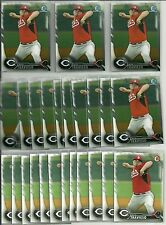 2016 Bowman Nick Travieso (34) Card Lot Chrome Paper Prospect Reds