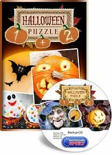 Halloween-puzzle 1 + 2-Holiday Jigsaw Halloween-pc-xp/vista/7/8/10