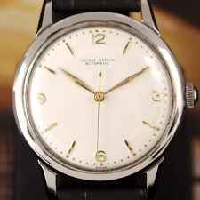 Authentic Ulysse Nardin White Dial Gold Hands Automatic Mens Wrist Watch